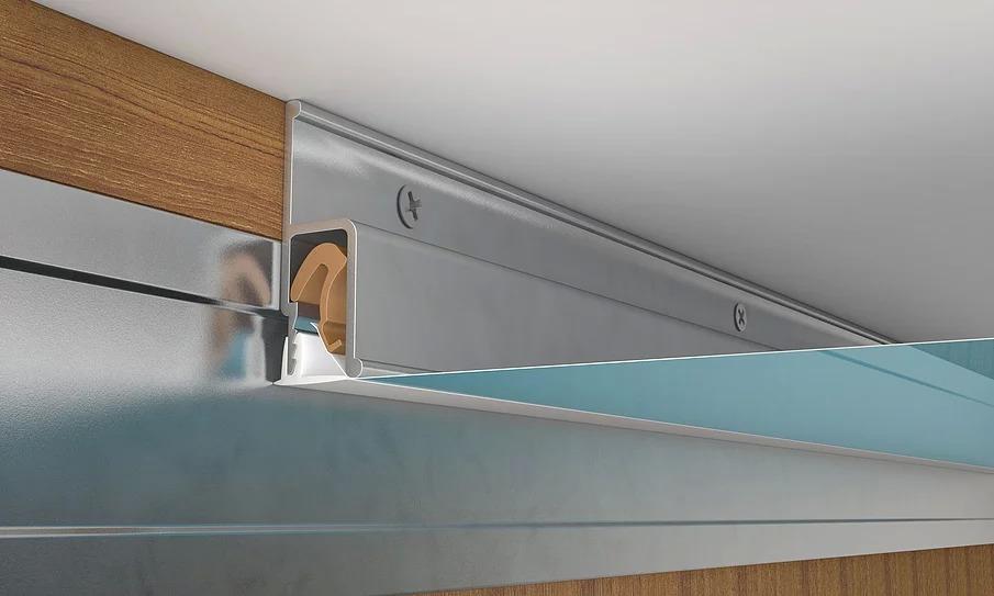 Монтаж подвесного потолка при помощи прямого стыковочного профиля натяжных потолков