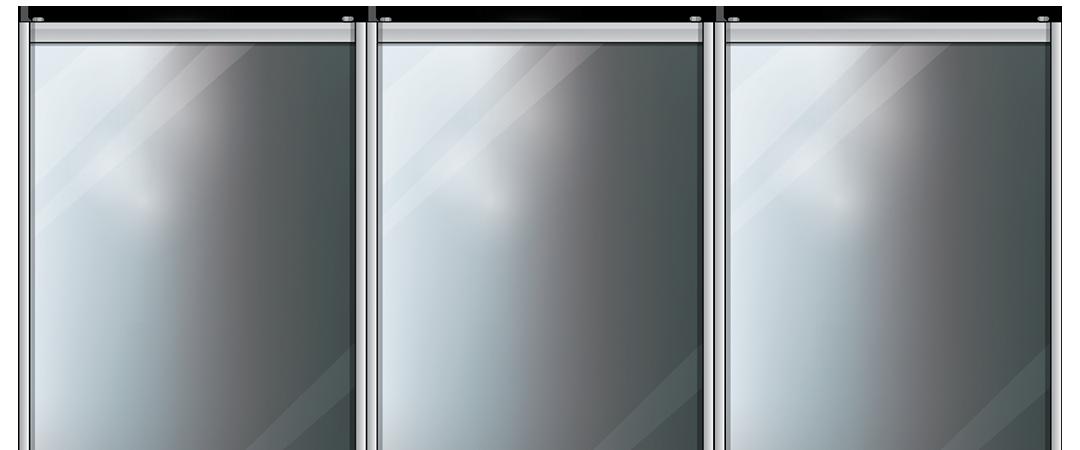 Зеркальные двери-купе