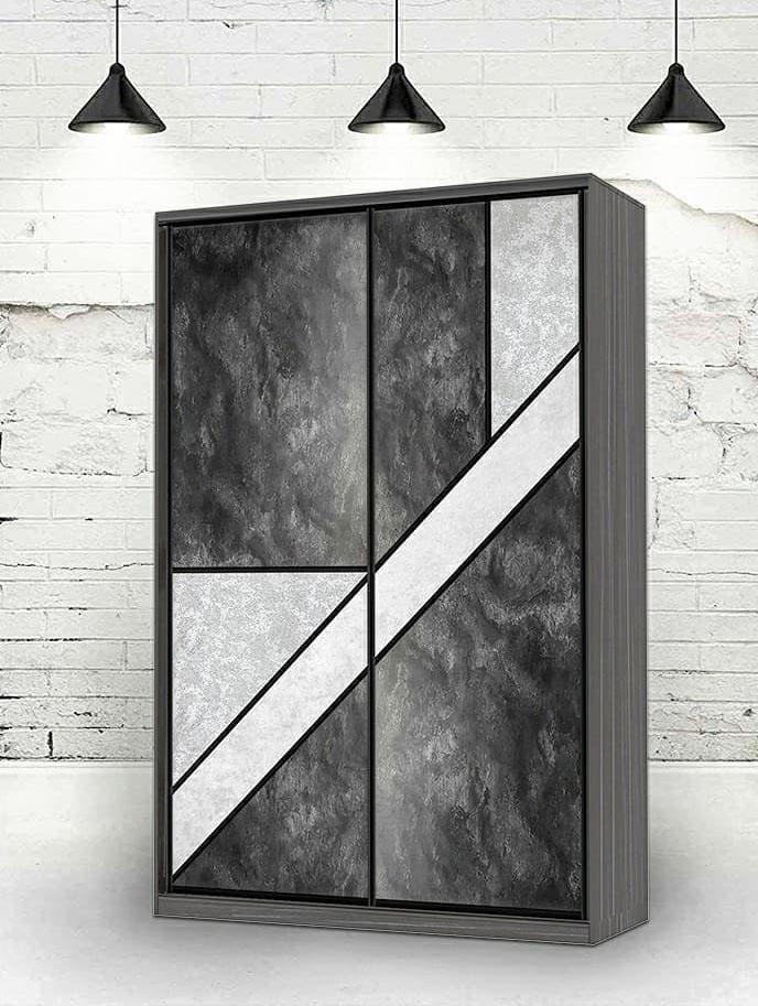 Шкаф-купе комбинированный вставками в двери