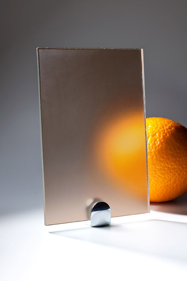 Прозрачное матовое стекло (сатин)
