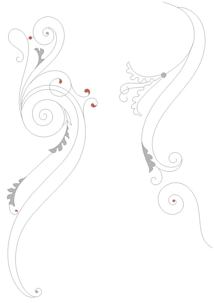 Рисунок для заливного витража на двери-купе