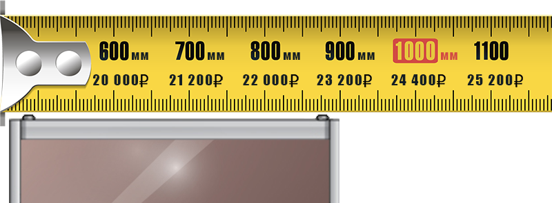 Стоимость дверей-купе расчитывается по ширине