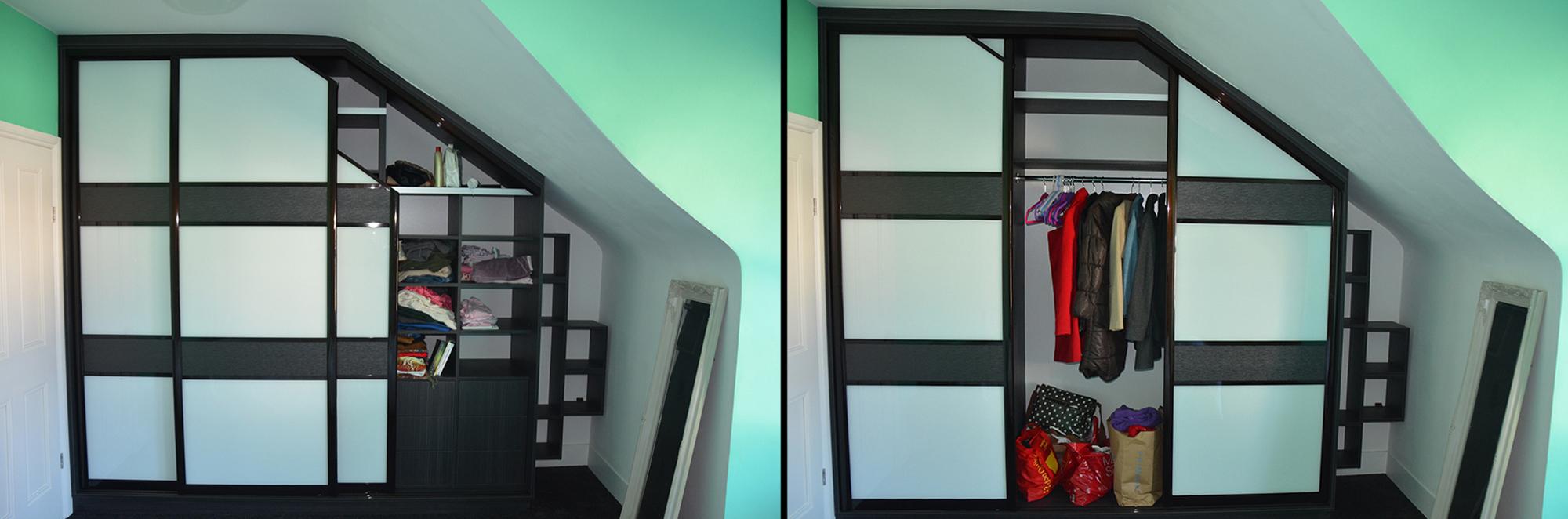 Шкаф-купе для мансардных помещений