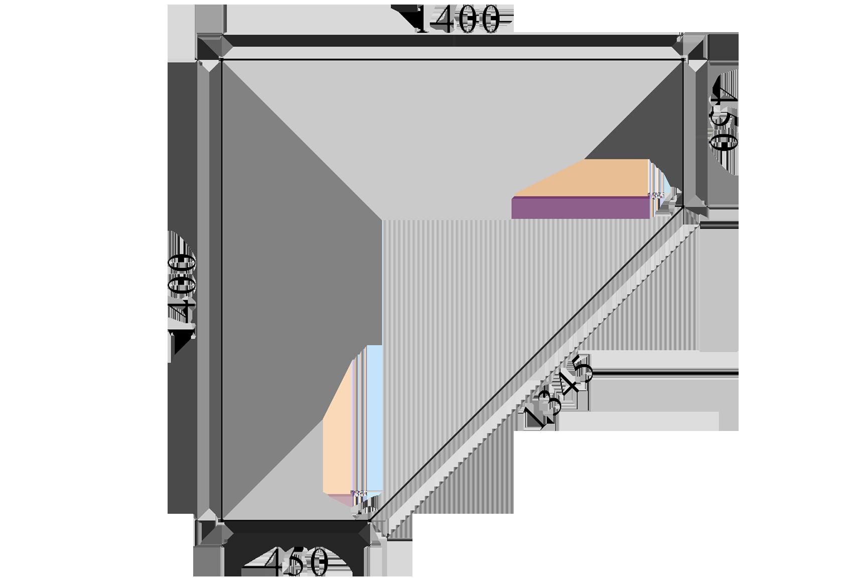 Диагональный шкаф-купе
