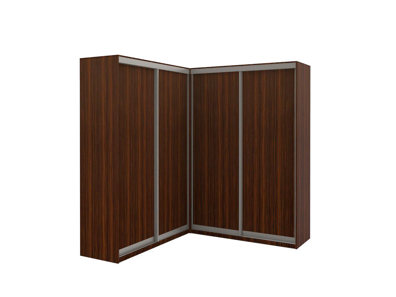 Угловой шкаф-купе со стыком 90 градусов