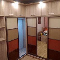 Встроенный шкаф-купе № 0936