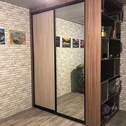 Встроенный шкаф-купе № 0988