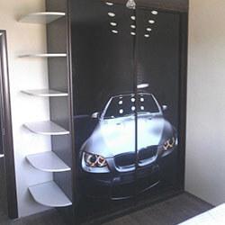 Встроенный шкаф-купе № 1030