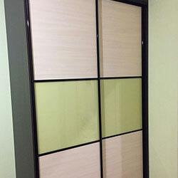 Встроенный шкаф-купе № 1122