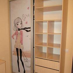 Встроенный шкаф-купе № 0138