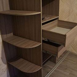 Встроенный шкаф-купе № 0195