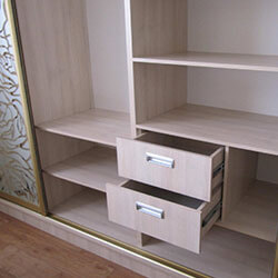 Встроенный шкаф-купе № 0222