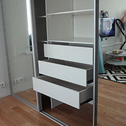 Встроенный шкаф-купе № 0242