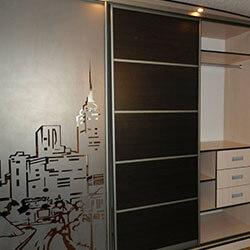 Встроенный шкаф-купе № 0258