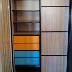 Встроенный шкаф-купе № 0293