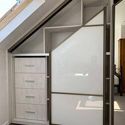Встроенный шкаф-купе № 0336