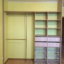 Встроенный шкаф-купе № 0340