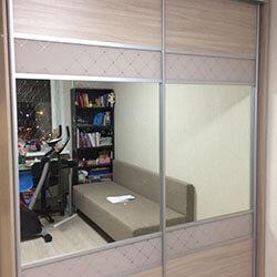 Встроенный шкаф-купе № 0345