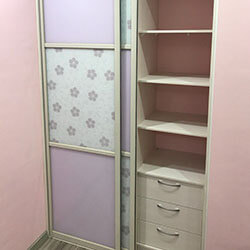 Встроенный шкаф-купе № 0042