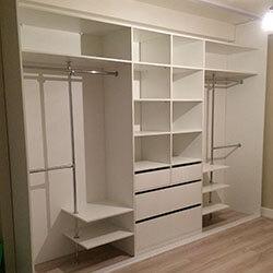 Встроенный шкаф-купе № 0434