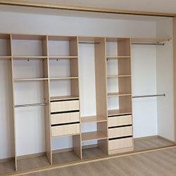 Встроенный шкаф-купе № 0438