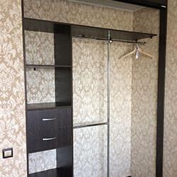 Встроенный шкаф-купе № 0442