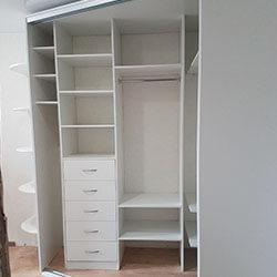 Встроенный шкаф-купе № 0485