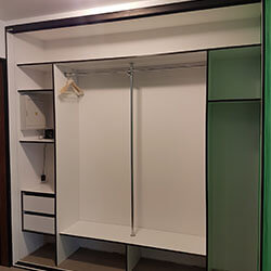 Встроенный шкаф-купе № 0627