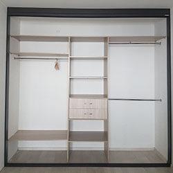 Встроенный шкаф-купе № 0645