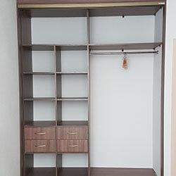 Встроенный шкаф-купе № 0683