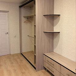 Встроенный шкаф-купе № 0688
