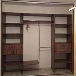 Встроенный шкаф-купе № 0722