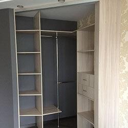 Встроенный шкаф-купе № 0834