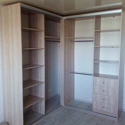 Встроенный шкаф-купе № 0846