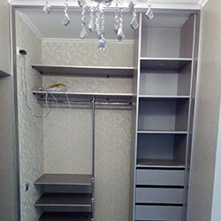 Встроенный шкаф-купе № 0874